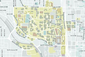 Map of Georgia Tech