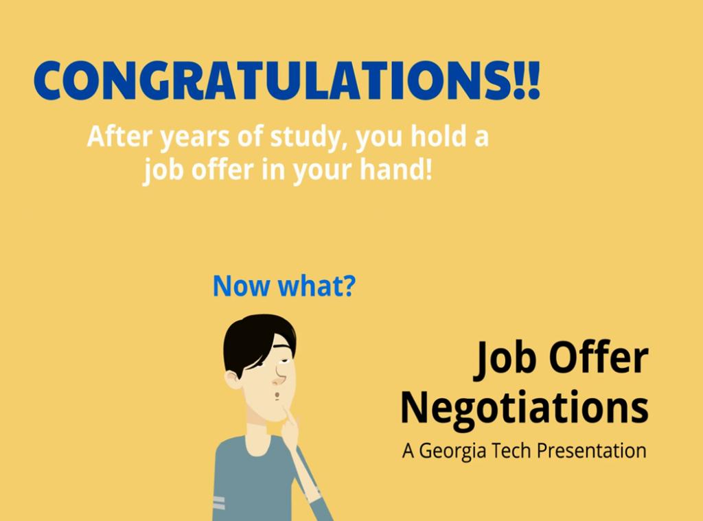 Job Negotiation Recommendation Video screenshot